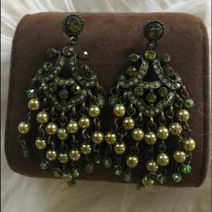 Vintage chandelier pierced earrings